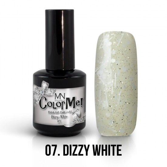 ColorMe! Dizzy no.07. - Dizzy White 12ml gel polish lakkzselé gél lakk nail art mystic nails