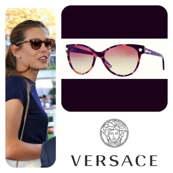Buscas unas gafas de sol con mucho estilo, elegantes y diferentes ?   Quédate con este modelo de VERSACE en nuevos colores, que ya han lucido muchas celebrities este verano, entre ellas Paula Echevarría. Esta vez de la mano de Carlota Casiraghi.  Sofisticación y mucha clase gracias a este modelo de Versace.