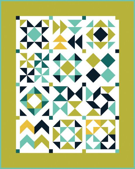 Half-Square Triangle Block of the Month Quilt Diagram | Flickr - Photo Sharing!
