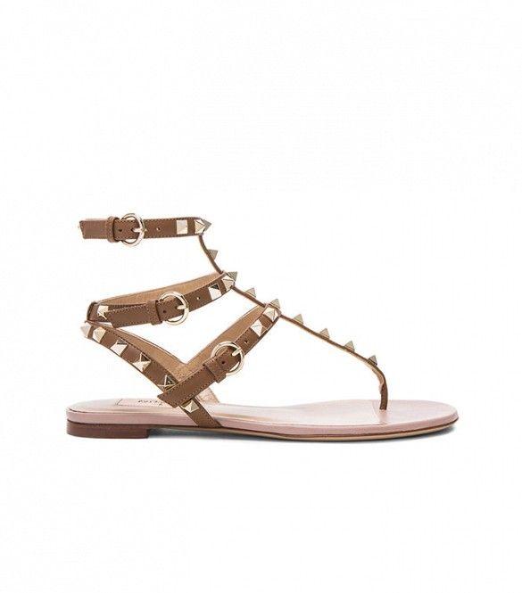 Valentino Rockstud Gladiator Leather Sandals ($945)