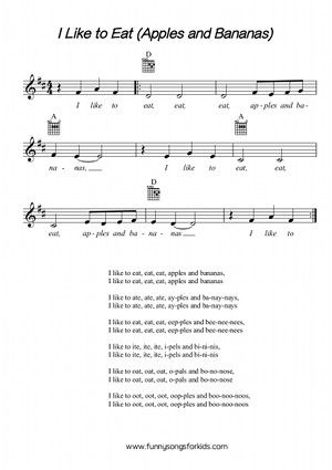 15 Best Funny Songs For Kids Childrens Classics Sheet Music