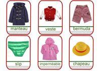 imagier des vêtements
