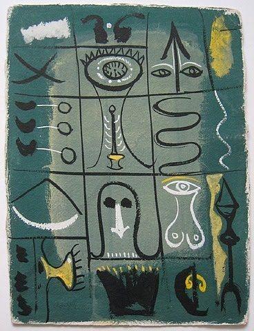 Title  date unknown by American artist Adolph Gottlieb (1903-1974). Anybody?? via EYE-LIKEY