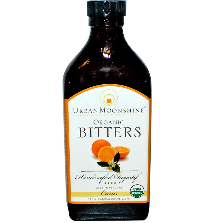 Urban Moonshine, Organic Bitters, Citrus, 8.4 fl oz (250 ml) - iHerb.com Can't wait to get it! Great for after a meal to help with digestion. Good for the liver with dandelion and burdock.