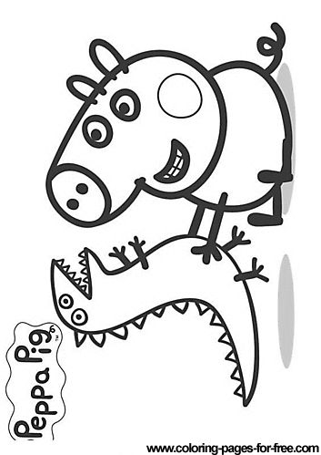 Peppa Pig coloring pages drawing picture 20