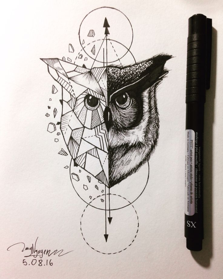 Line Drawing Animal Tattoos : Best geometric owl tattoo ideas on pinterest