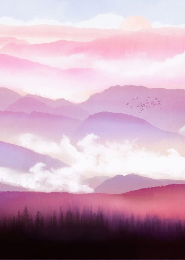 Fantasy Moonrise Digital Background Multiuse Purposes Stock Photo