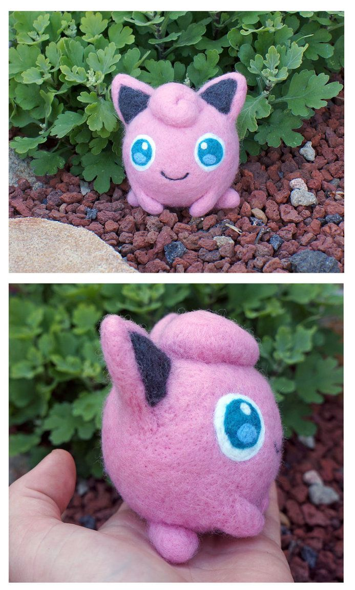 Felted Pokemon Jigglypuff plush by scilk on DeviantArt