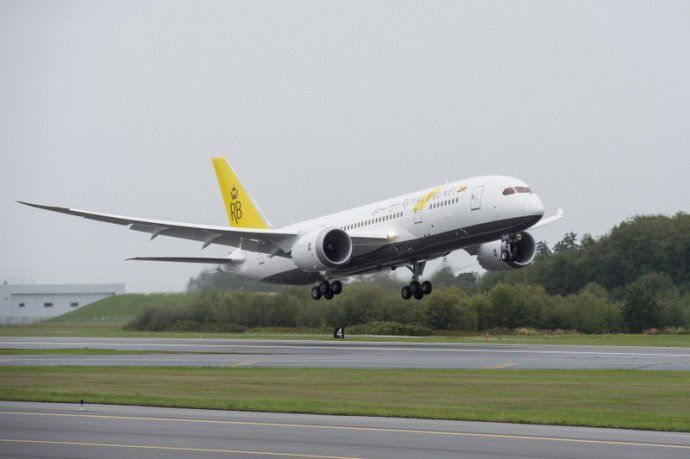 Royal Brunei Airlines Boeing 787-8 Dreamiliner Take off