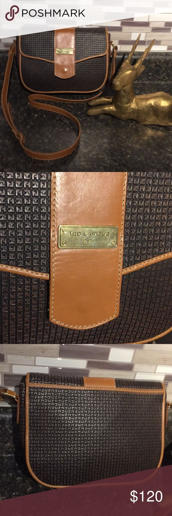 Ted lapidus crossbody Luxurious limited edition calf skin leather bag. Excellent condition. Flawless inside and out. Quality handbag. Made in Paris. See photos for measurements. I TRADE ted lapidus Bags