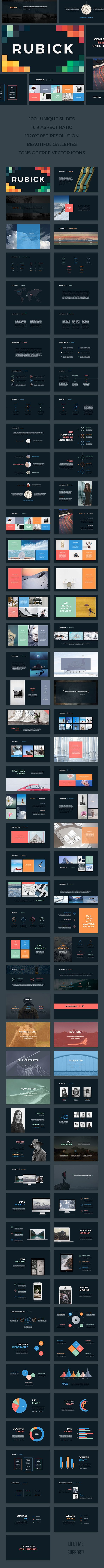 Rubick PowerPoint Template  #powerpoint #ecommerce • Download ➝…