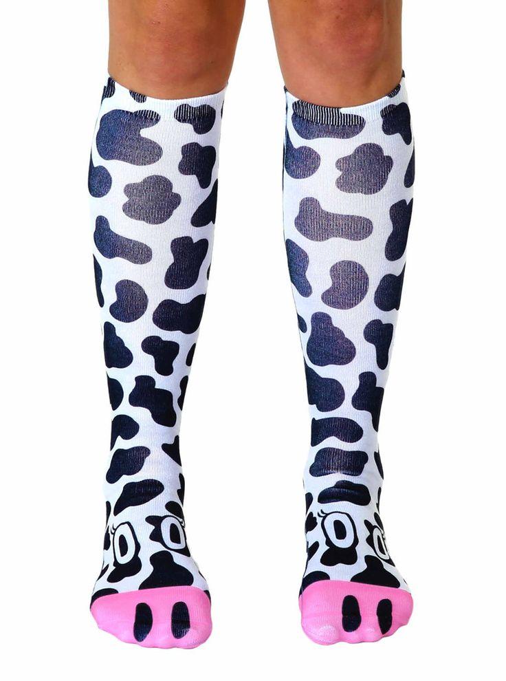 Cow Knee High Socks