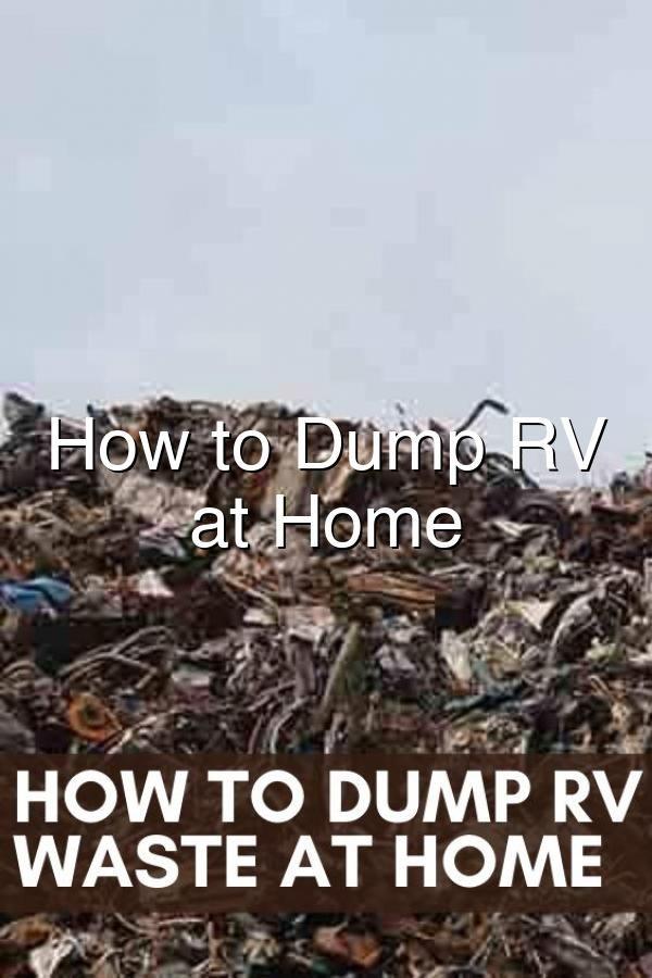 How To Dump Rv Waste At Home In 2020 Camper Interior Camper Camper Living