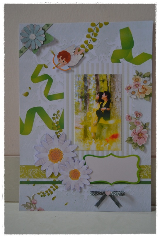 theme : in love with green  a scrapbook for my friend's prewed photo