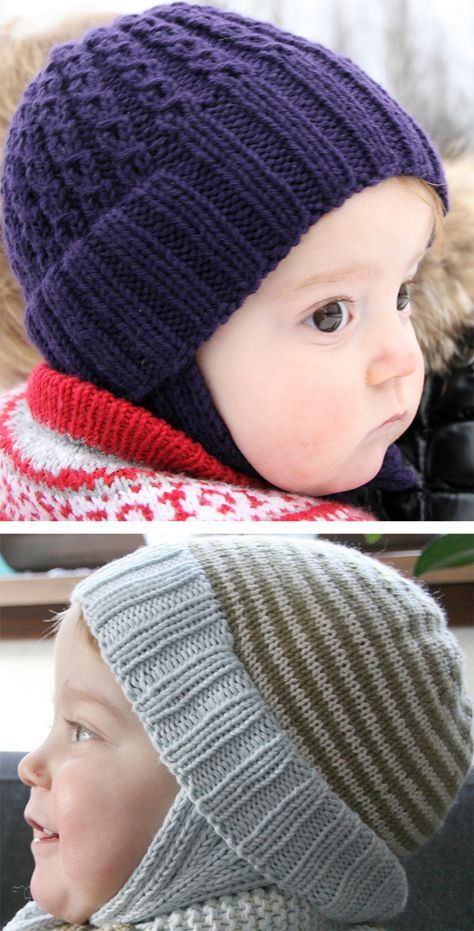 Loom Knit Baby Boy Hats New 01