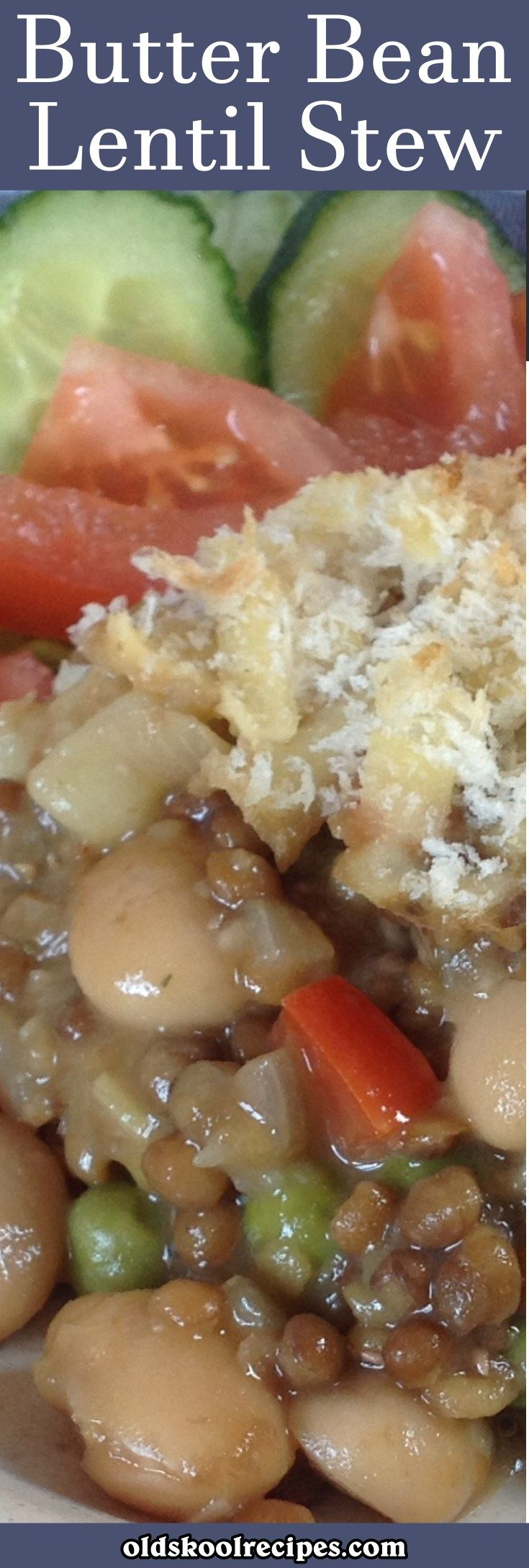 Butter Bean Lentil Stew Recipe - Old Skool Recipes This can be Vegan dish by using dairy free cheese instead of Cheddar cheese. Butter beans and lentils makes a healthy meal in minutes. Use your imagination and add some other vegetable as well. A ideal midweek dinner.
