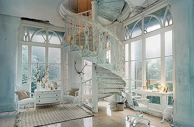 : Spirals Staircases, Dreams Home, Dreams Houses, Spirals Stairs, Window, Shabby Chic, Stairways, Dreamhous, Rooms