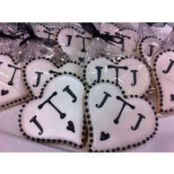 Monogrammed cookies, wedding heart cookies. The Sweetest Thing, LLC - Custom Invites / Favors - Waterford - Wedding.com
