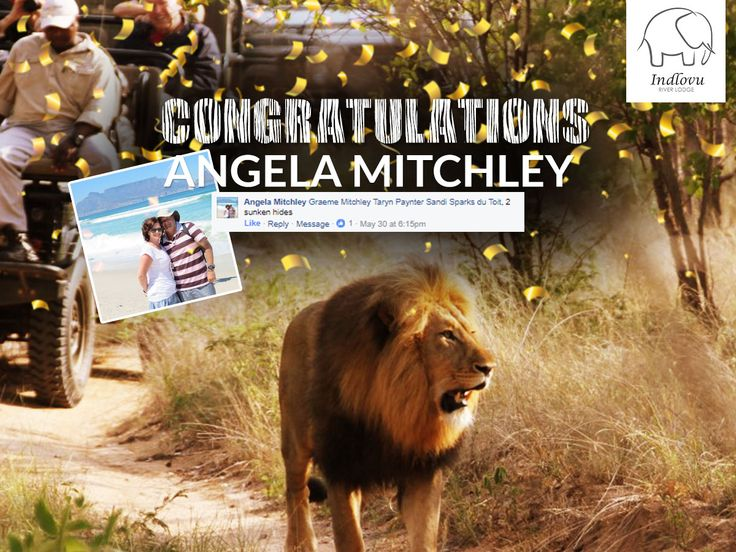 And our winner for our 2 Night Photo Safari is:   Angela Mitchley!!! Congratulations to you and your 3 friends that will be joining you! Please inbox us your contact details to redeem your prize.   We would like to thank everyone for entering. The response we got was overwhelming. Keep a look out for more competitions and specials we will be running in the near future. www.irl.co.za