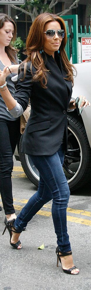 Liking this....Citizen of Humanity Jeans - Celebrity Street Style - Eva Longoria