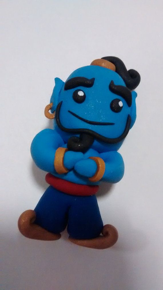 Genie from Aladdin Polymer Clay Chibi