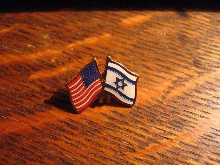 Israel / USA Flag Lapel Pin - Israeli American Flags Nationality Patriotic Pin