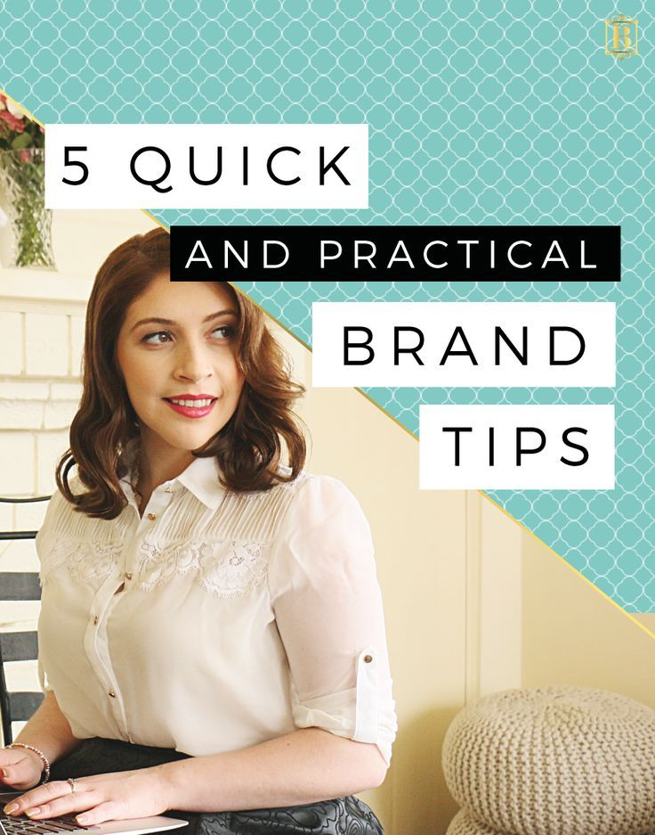 Are you feeling a little flat with your brand? Or are you just ready to take it to the next level. Whatever the motivation, what brand doesn't benefit from a little makeover! On the blog I share my top 5 quick (and practical) brand tips for you to try! Click through and see for yourself! #brand #branding #business