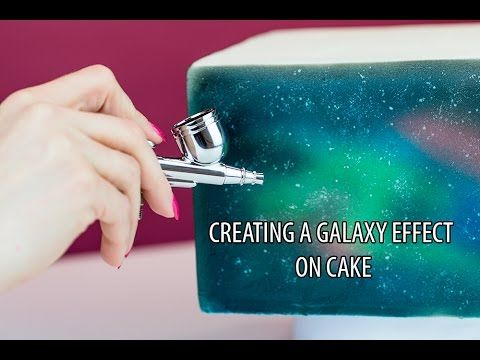 How to create a Galaxy Effect on Cake - A tutorial by Cassie Brown
