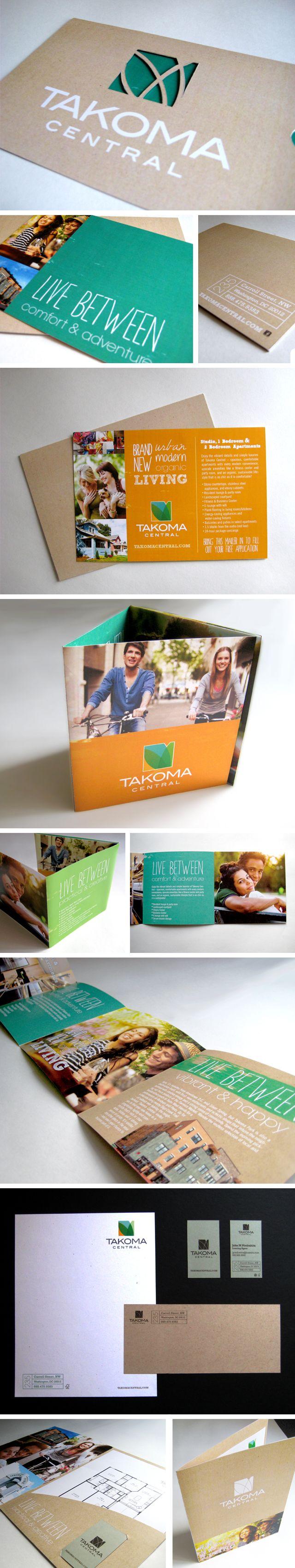 Takoma Central Luxury apartments branding concept - direct mailer, brochure, stationery, pocket folder - The Joyful Creative