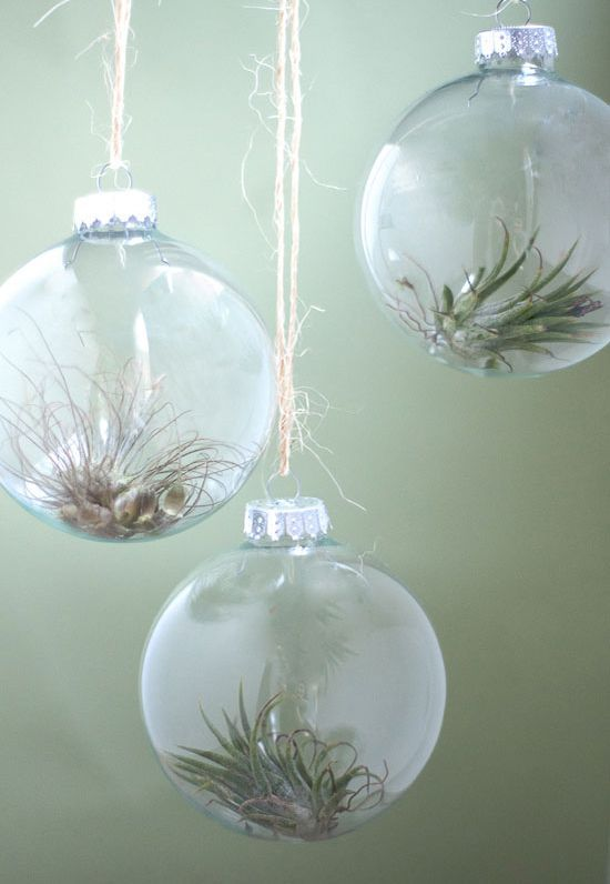10 Ways To Fill A Clear Glass Christmas Ornament With Images