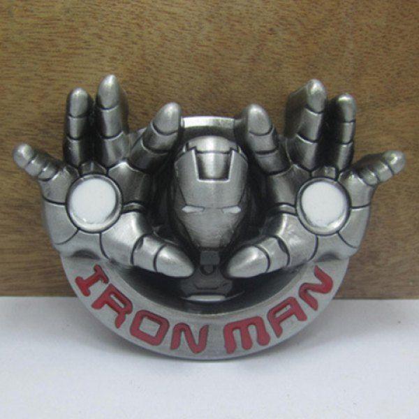 Stylish Iron Man Head and Hand Shape Embellished Belt Buckle For Men #women, #men, #hats, #watches, #belts, #fashion, #style