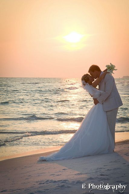 #beach #sunset #wedding