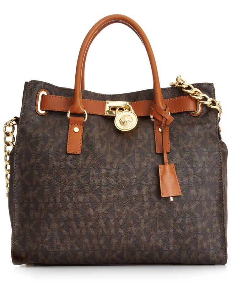 MICHAEL Michael Kors Handbag, Large Signature Hamilton - Handbags \u0026  Accessories - Macys