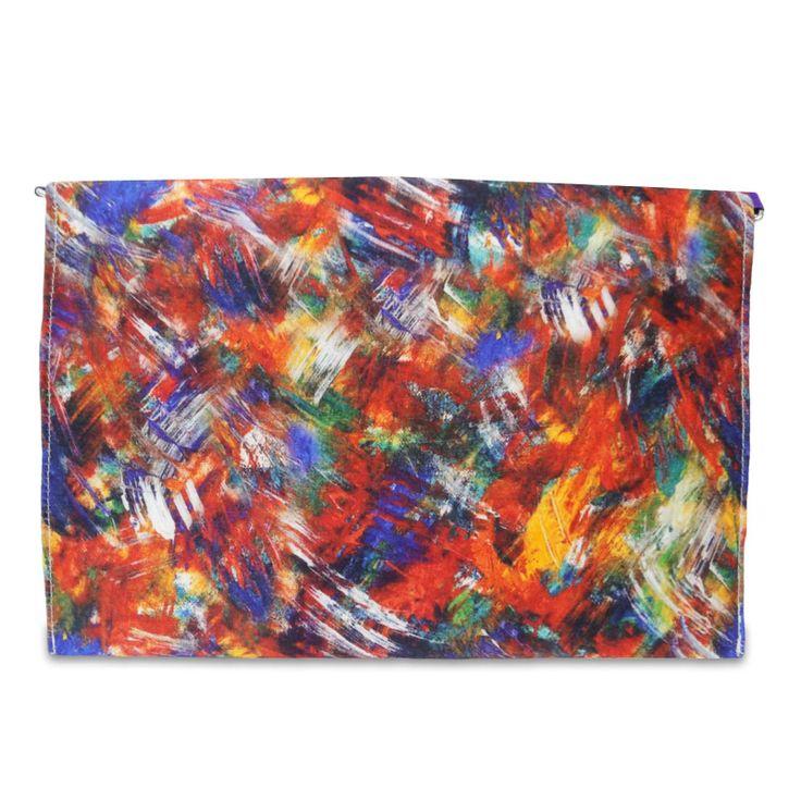 Beautiful Velvet fabric woman Envelope clutch purse /handbag. ..this is img