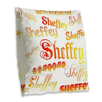 Sheffey Fonts - Orange, Red and Yellow - 9675 Throw Pillow