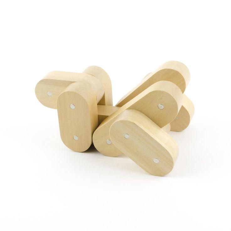 Criquet avec les blocs  de construction magnétique en bois Neobrick, en vente sur AMAZON et sur https://www.neobrick.fr