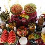 Decoratiuni nunta , Aranjamente florale , Bufete de fructe cu sculpturi in fructe | e Nunti este pentru tine