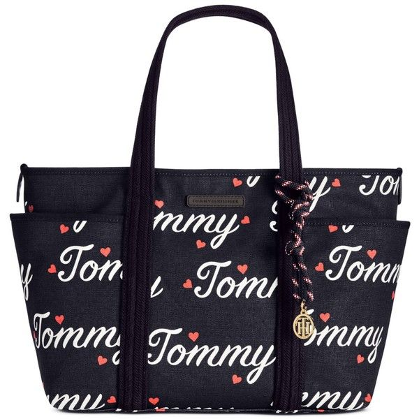 Tommy Hilfiger Dariana Tote featuring polyvore women's fashion bags handbags tote bags blue totes tommy hilfiger purses tommy hilfiger tote bag tommy hilfiger handbags blue purse
