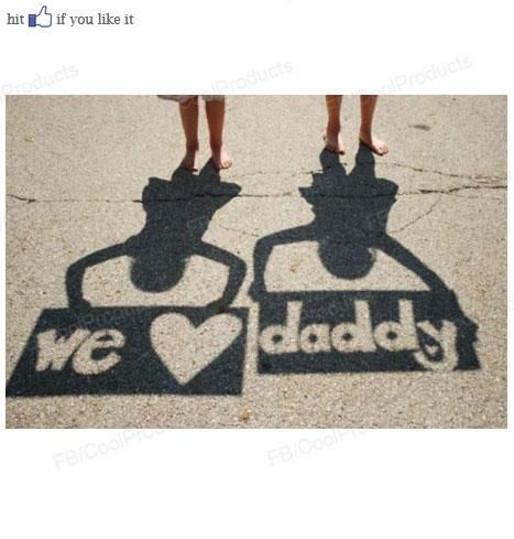 """Father's Day idea!  """"we love daddy"""""""