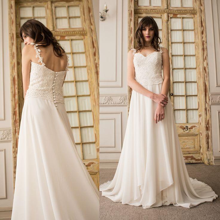 Vestido de novia de macrame · Minimal macrame wedding dress