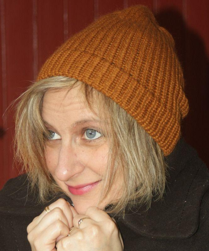 Bonnet marron écureuil en laine : Chapeau, bonnet par magalie-tissot-creations