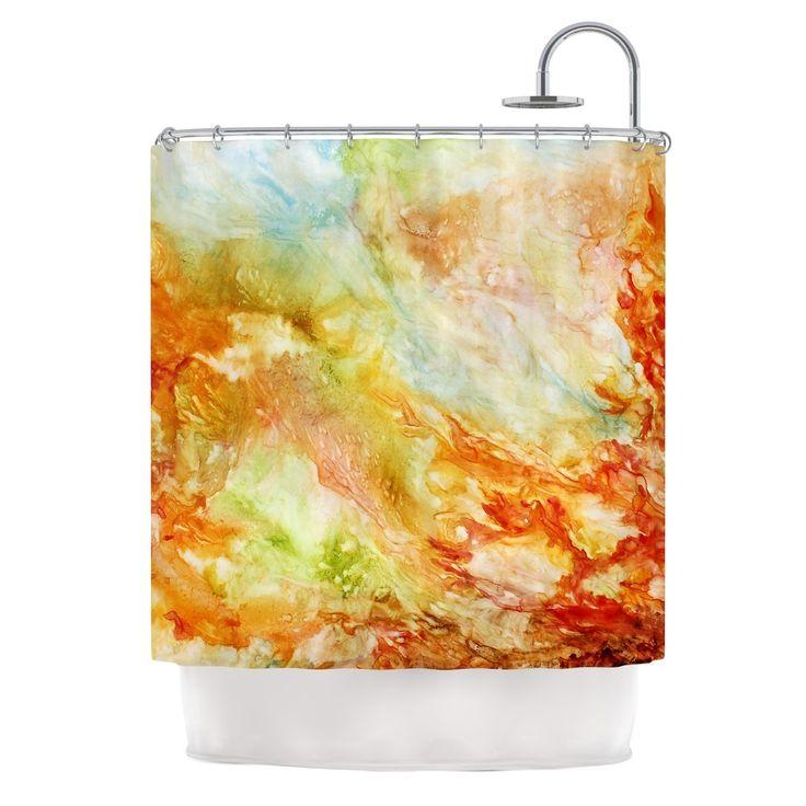 Autumn Breeze by Rosie Brown Shower Curtain