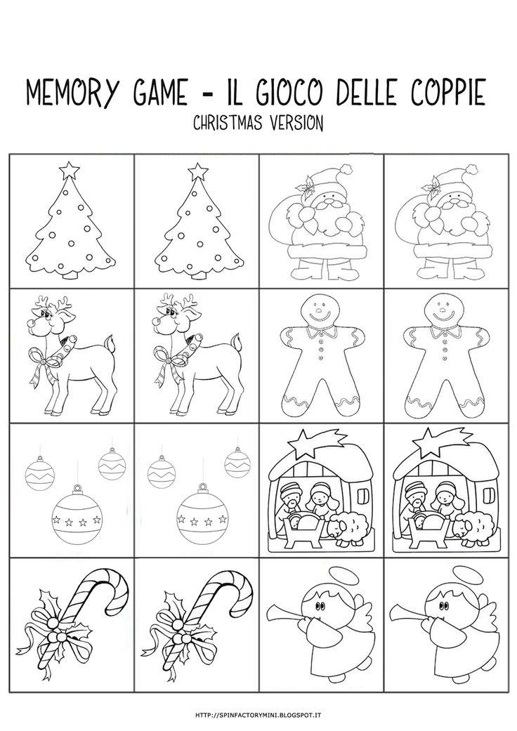 MiniFactory: Memory di Natale. Il gioco delle coppie (dai 2 anni in su).