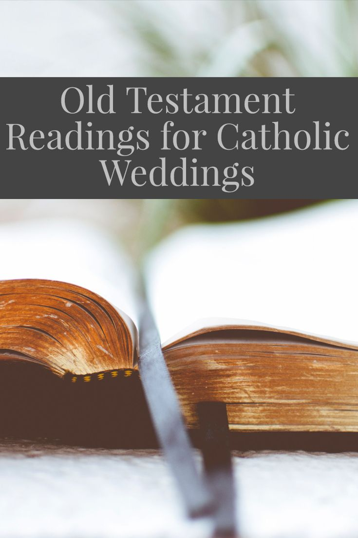 Full list of suggested old testament readings for Catholic Weddings