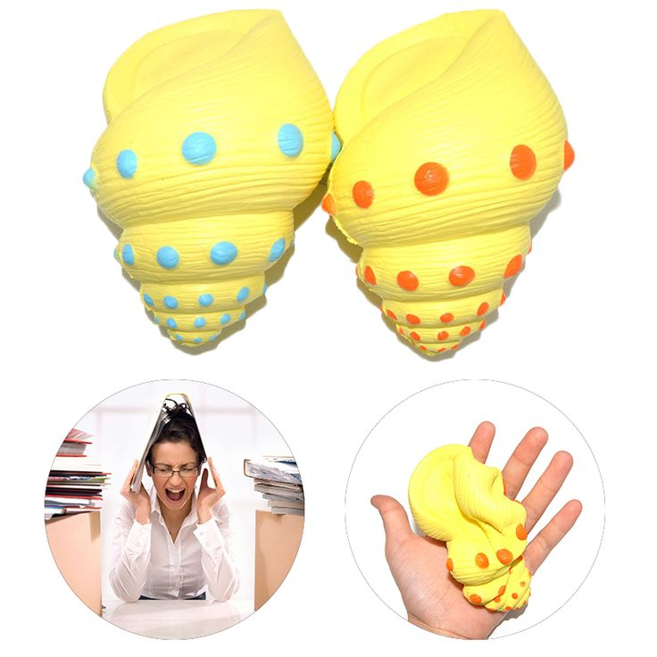 Anti Stress Ocean Simulation Jumbo Squishy Conch Super Phone Slow Rising Children Toy Antistress Jokes Funny Gadgets Yellow #Affiliate
