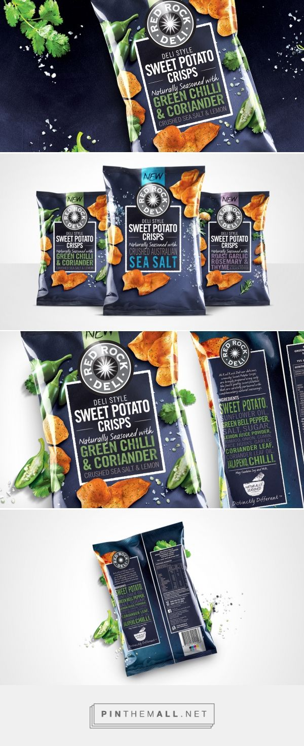 Red Rock Deli Sweet Potato Crisps — The Dieline - Branding & Packaging Design - created via https://pinthemall.net