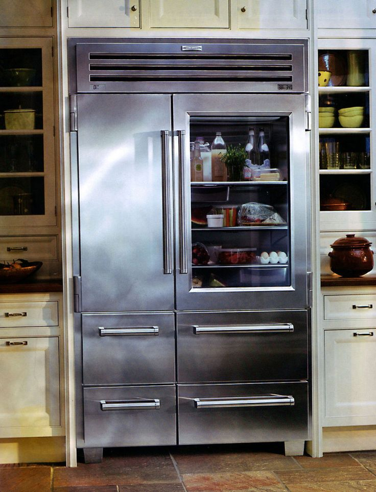 Glass Door Refrigerator Used For Kitchen Design Ideas Intended For Glass  Dooru2026