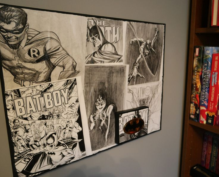 Dc Comics Wall Art 42 best comic book wall art images on pinterest | book wall, comic