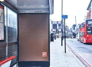 """As part of World Braille Day, Maltesers have used model chocolates to create a one-off Braille billboard. The ad appears on a London bus shelter and spells out the words """"caught a really fast bus once, turns out it was a fire engine"""".   The words used for the campaign came from a blind woman who took part in a focus group held by Maltesers and disability charity Scope.   The billboard follows the brand's same 'Look on the Light Side' campaign which included three TV ads featuring…"""