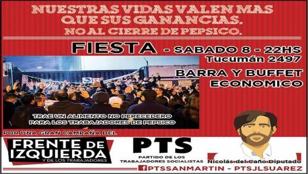 En San Martín también se apoya la lucha de los trabajadores de PepsiCo
